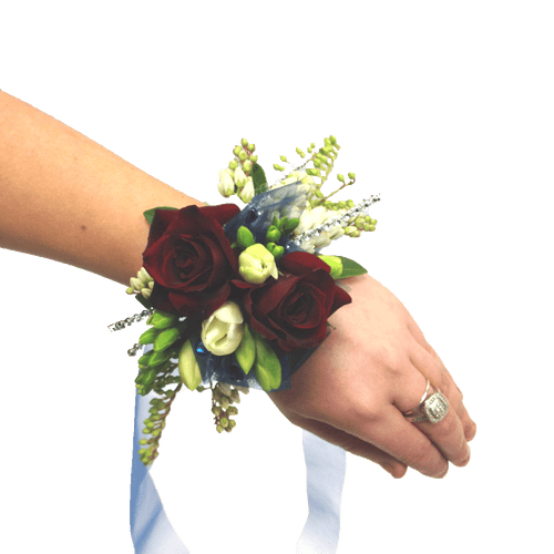 Red roses wrist corsage