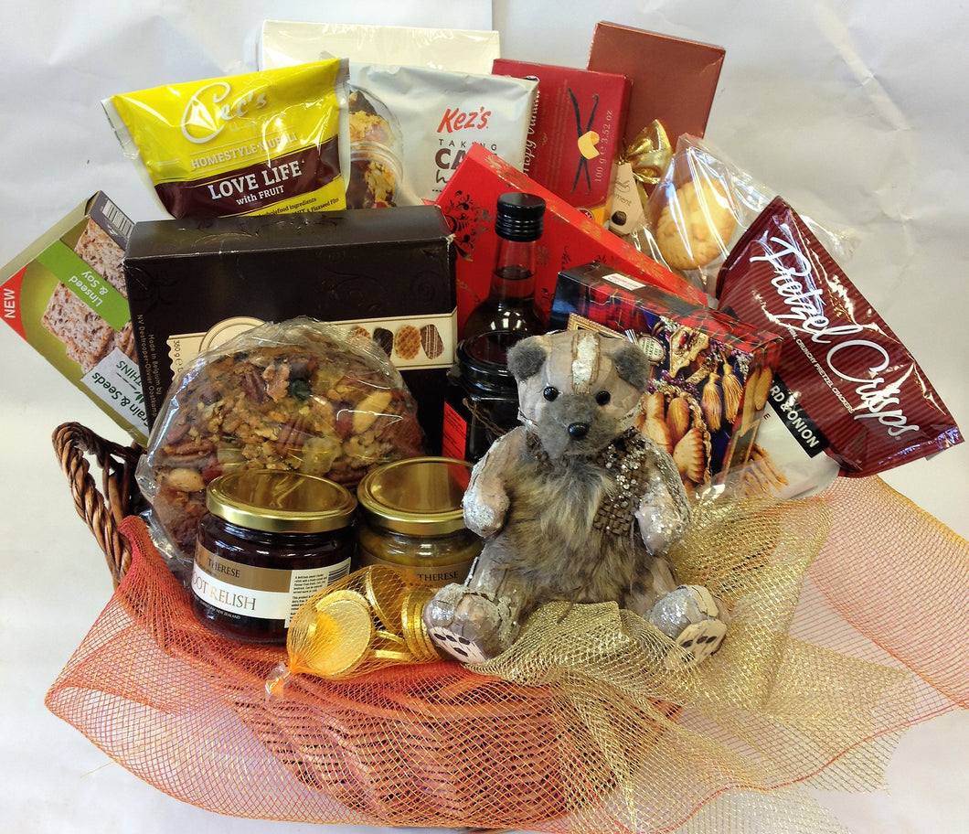 A Gift Basket or Tray with Goodies