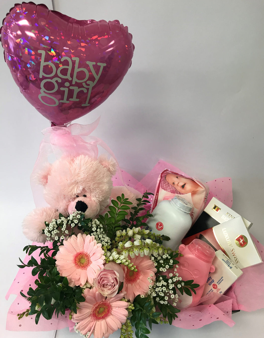 Gift box for baby girl, baby, hospital, congratulations,