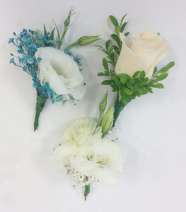 Buttonholes, School Ball, Wrist Corsage, Wedding, Groom, Mini roses