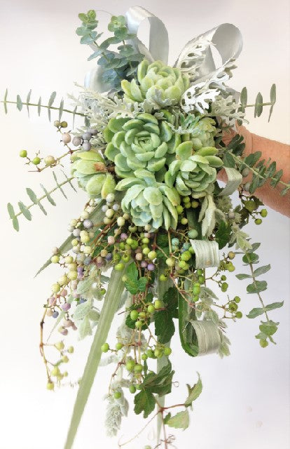 Succulent Hand tied, Native flaxes, Hand-tied  Wedding, Bride, Bridesmaid, Wedding celebration, Wedding flowers
