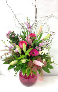 Vase arrangement, get well, hospital, Retirement, Birthday, Mothers day, Anniversary, Sympathy flowers,