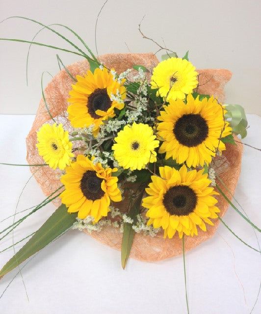 Sunshine Bouquet, get well, hospital, Birthday, Whanau Gift, Bouquets, Mothers day, Anniversary,