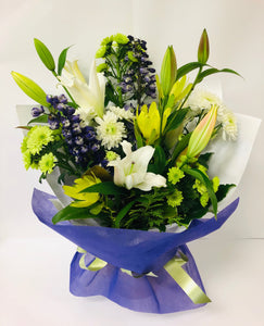 White, Green & Purple Bouquet
