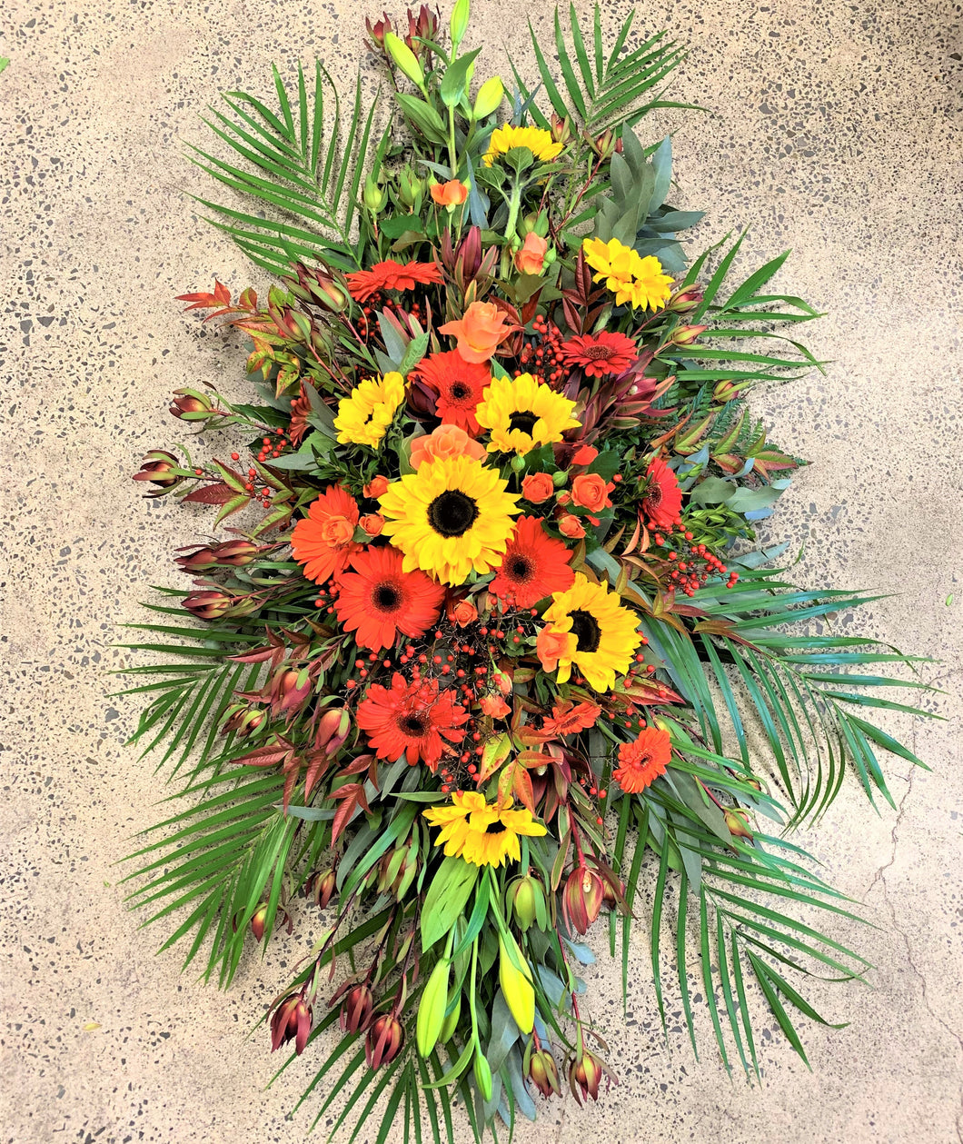 Family Casket flowers