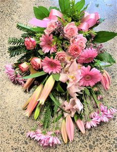 Sympathy Flowers in Pinks