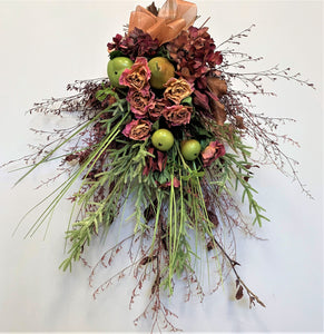 Hanging Dried Bouquet with Burgundy