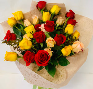 30 Mixed Colour Rose Bouquet