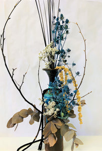 Blue Dried Floral Arrangement