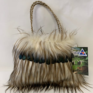 Marama Bag Feather & Seagrass Handle