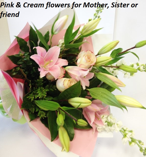Pink Bouquet, get well, hospital, Retirement, baby, Birthday, wife, mothers day, Sympathy, anniversary, Valentines day