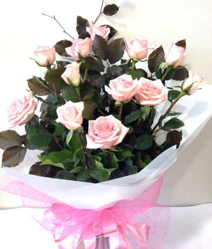 12 Beautiful pink roses