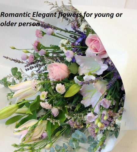 Romantic flowers, get well, hospital, Retirement,
