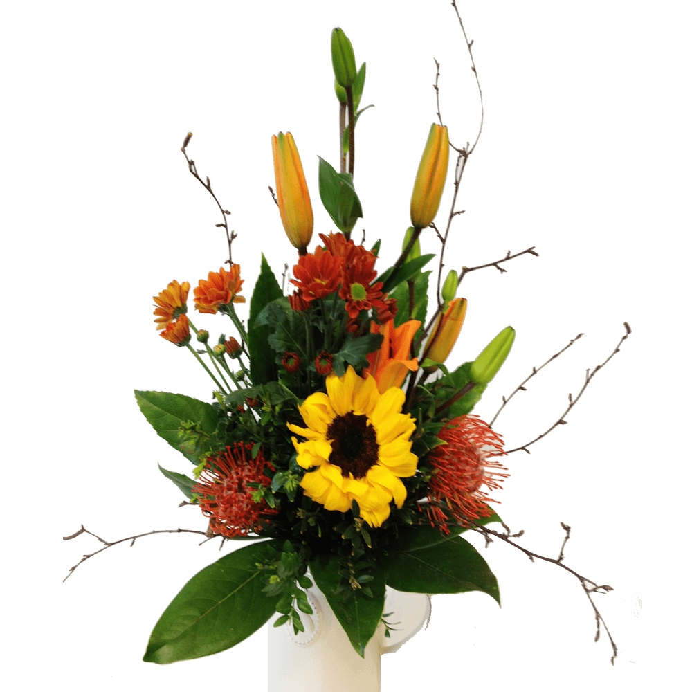 Arrangement of gathered flowers (flowers only)