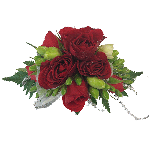 Red rose wrist corsage, School Ball, Wrist Corsage,