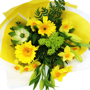Bouquet of golden flowers, get well, hospital, Retirement, Birthday,