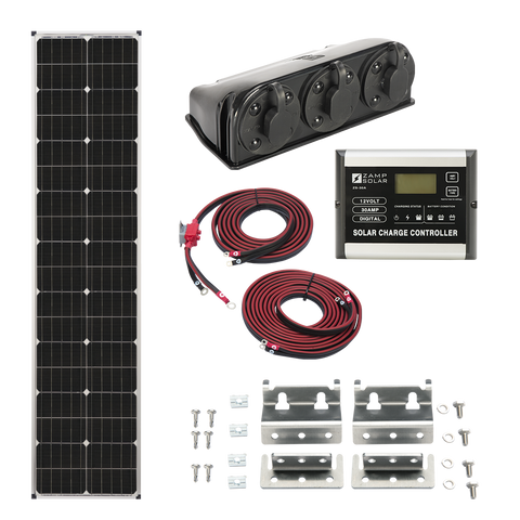 "Zamp Solar 90w ""L""ong Series Roof Mount Kit"