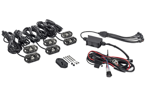 KC C-Series RGB LED Rock Light Kit - 6 PC