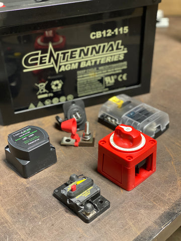 2012+ Sprinter AUX Battery Kit (Passenger Location)