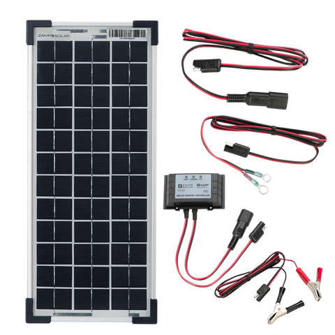 Zamp Solar 10-Watt Kit - Prepackaged - Great for 1-2 Batteries