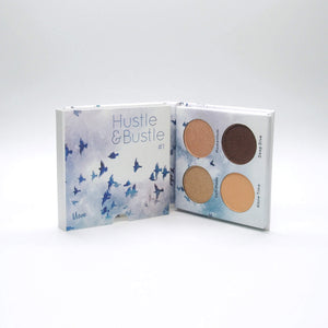Mavie. Cosmetics, Hustle & Bustle #1 Eyeshadow Palette, Shimmer & Matte Finishes.