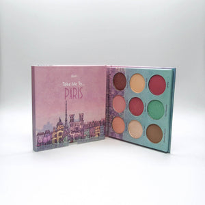 Mavie. Cosmetics, Take Me To... Paris Eyeshadow Palette, Shimmer & Matte Finishes.
