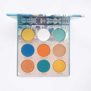 Mavie. Cosmetics, Take Me To... Santorini Eyeshadow Palette, Shimmer & Matte Finishes.