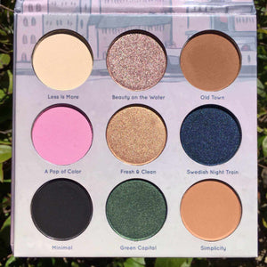 Mavie. Cosmetics, Take Me To... Stockholm Eyeshadow Palette, Shimmer & Matte Finishes.