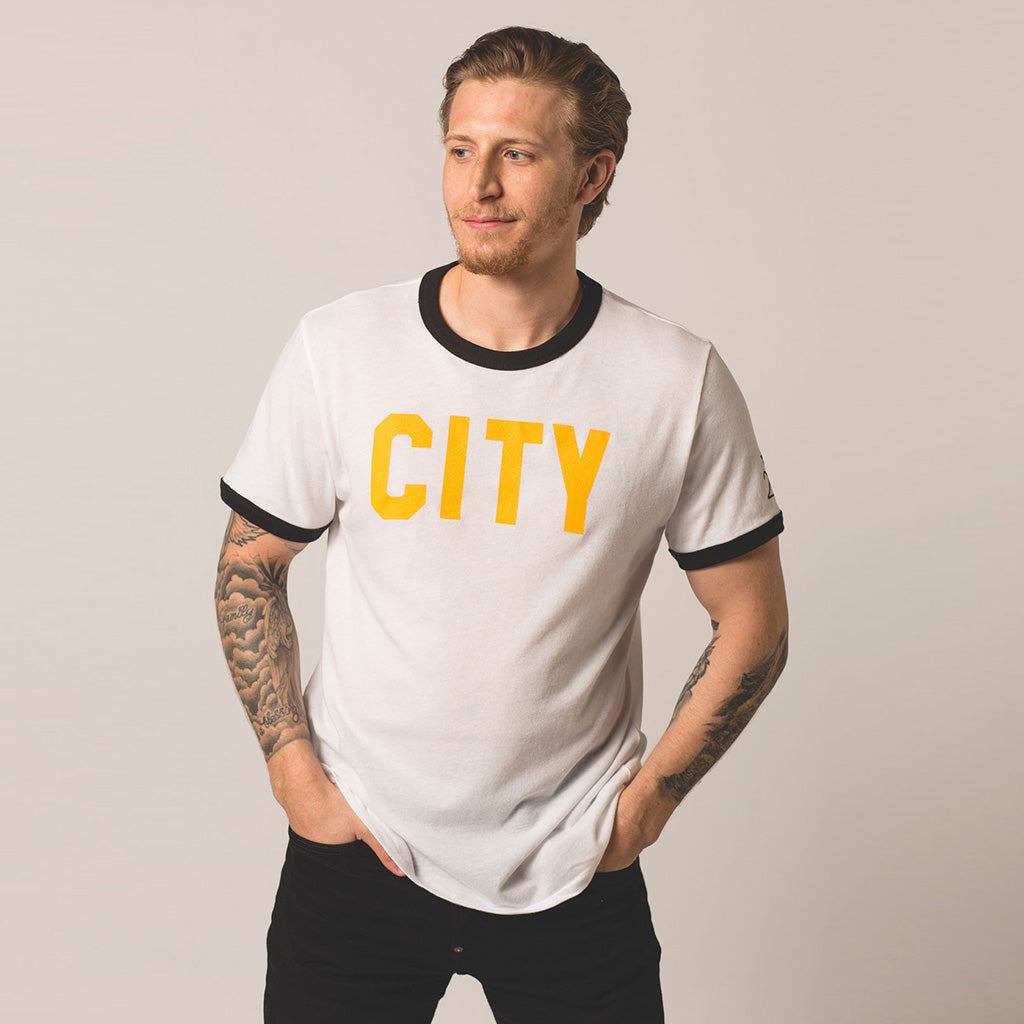 front view on model of CITY tee
