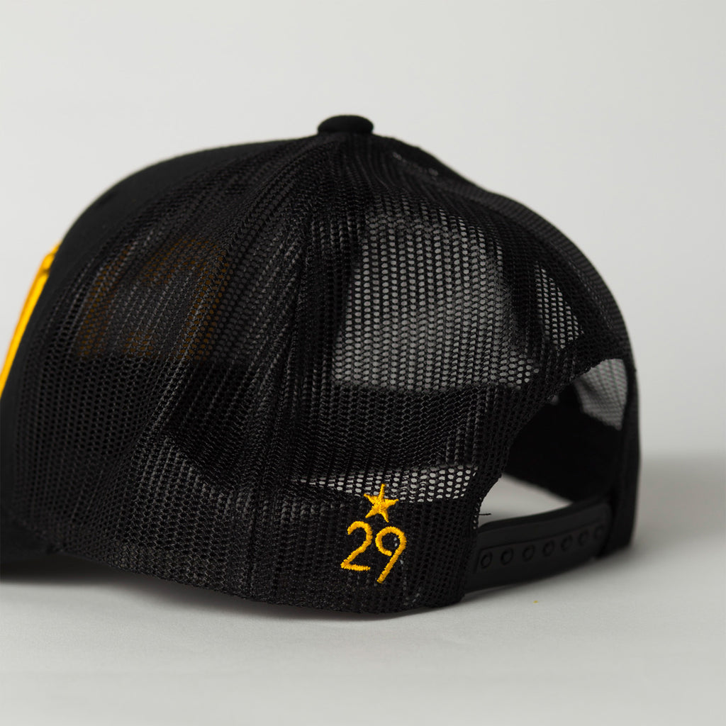 side view CITY Trucker Hat black