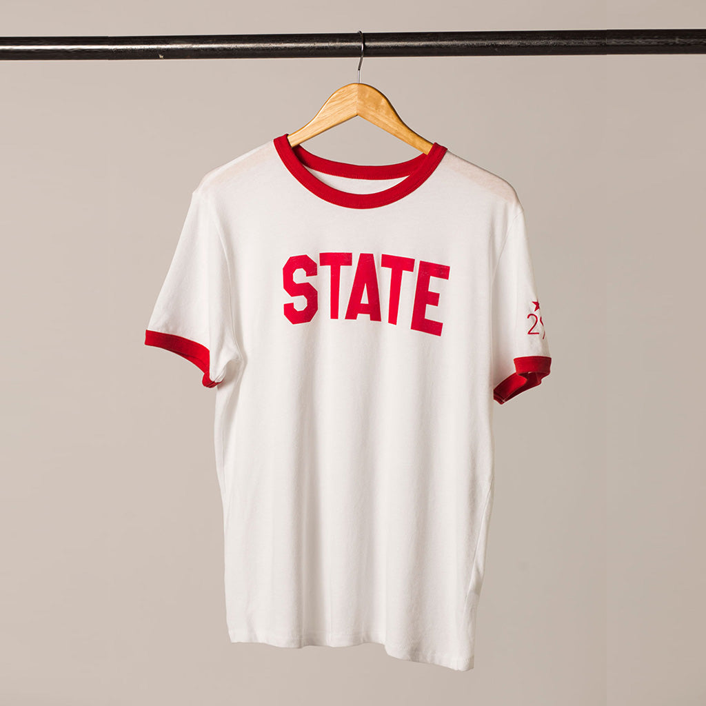 front view STATE ringer tee