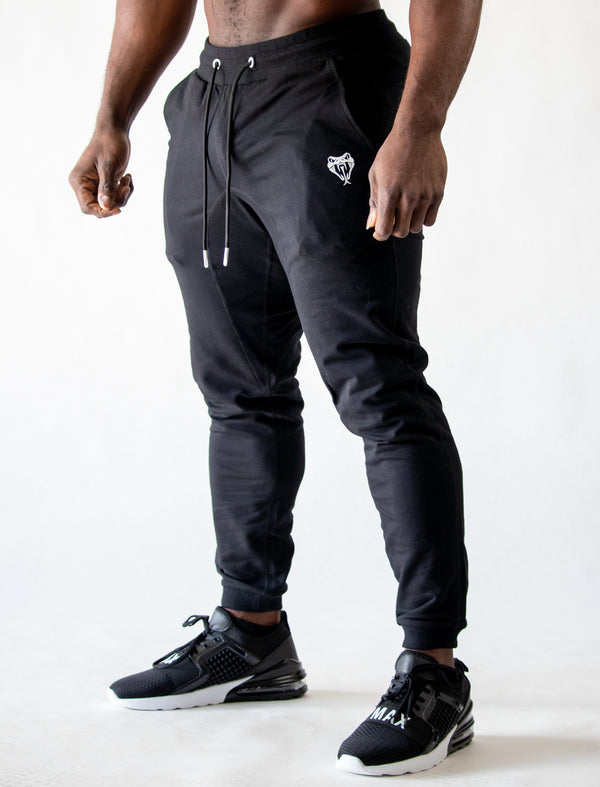 3d rubber joggers (black)