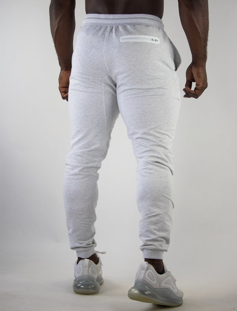 3d rubber joggers (white)