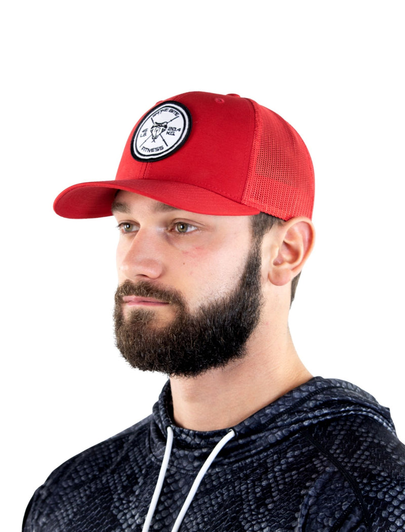 Classic Cardinal Red Mesh Snapback