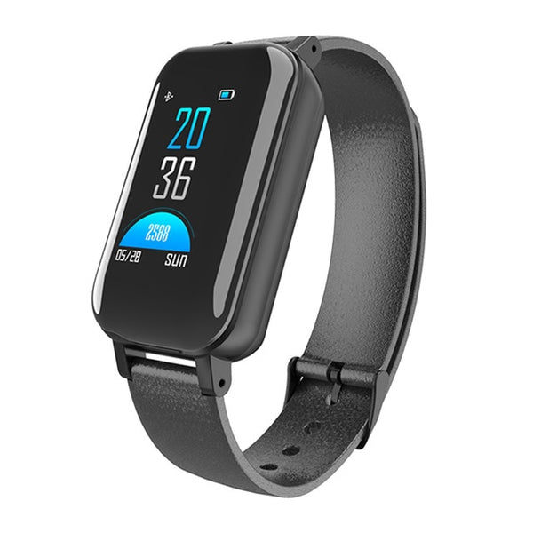 Smart Binaural Bluetooth Headphone Fitness Bracelet Heart Rate Monitor Smart Wristband Sport Watch Men Women