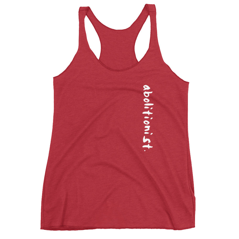 "Classic ""abolitionist."" Women's Racerback Tank by the 1854 Cycling Company"