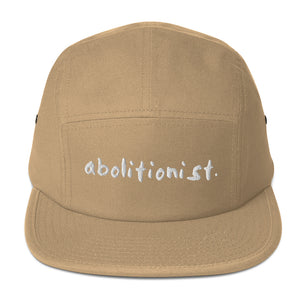 """abolitionist."" Five Panel Cap by the 1854 Cycling Company"