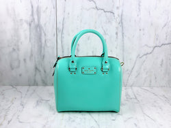 Giverny Blue Alessa Wellesley Leather Satchel