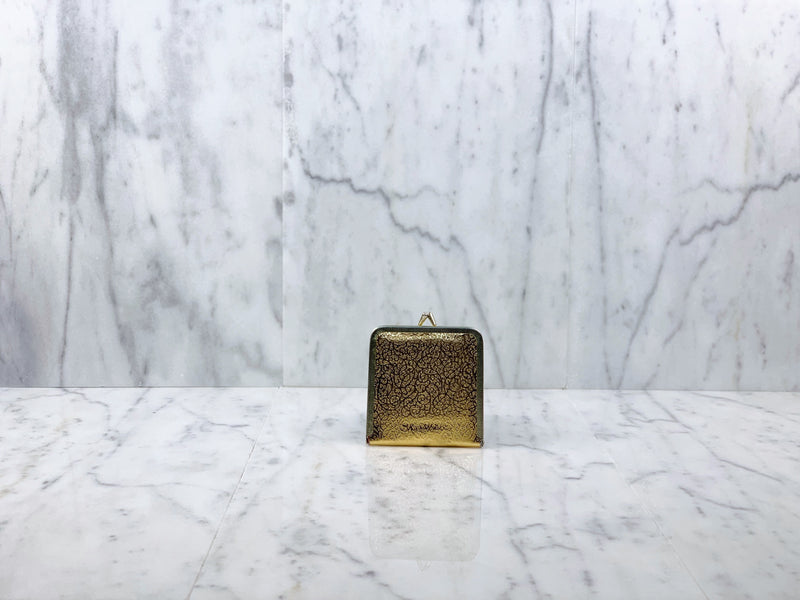 Gold Clasp Compact Mirror