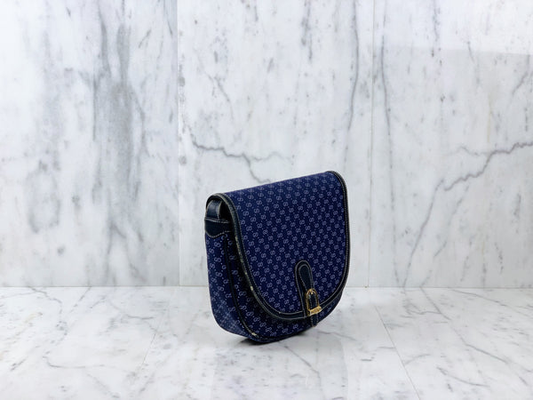 Authentic Classic Gucci Navy Saddle