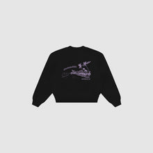 Load image into Gallery viewer, Abakada® Ube Crewneck (Black)