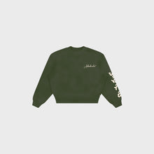 Load image into Gallery viewer, Abakada® Script Crewneck (Military Green)