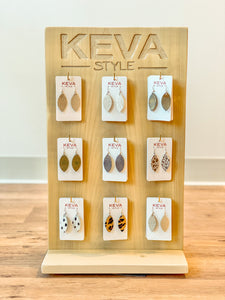 Keva Style - Leather Earrings {Small}