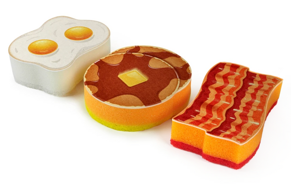 The Breakfast Scrub Sponge Set