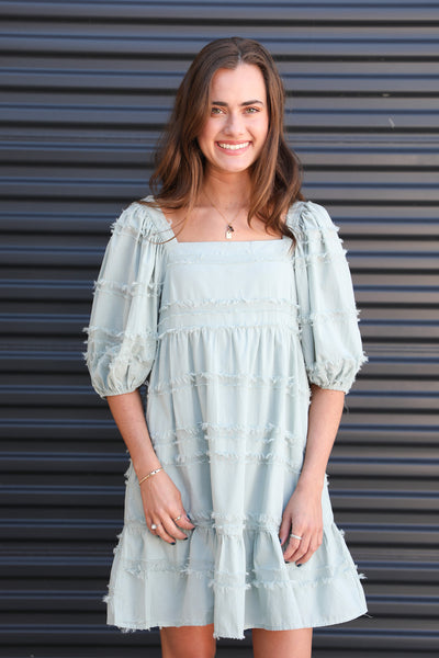 Wish Come True Misty Sage Dress
