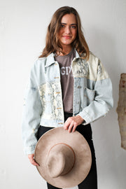 Off Duty Denim Ivory Snake Jean Jacket