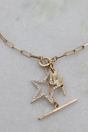 Stars And Light Gold Necklace