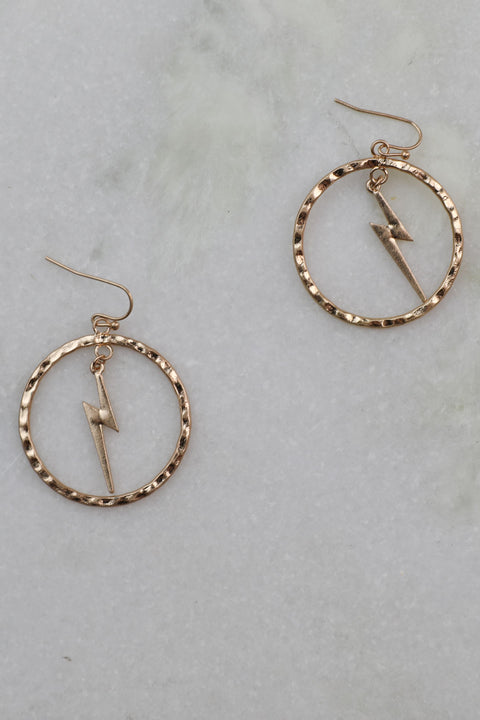 Sparks Fly Worn Gold Earrings