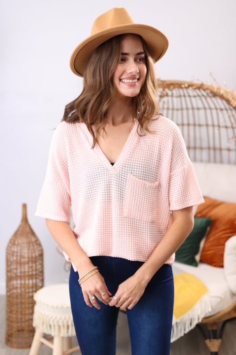 Can't Live Without It Blush Top