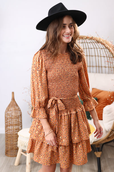 So Loved Rust Multi Dress